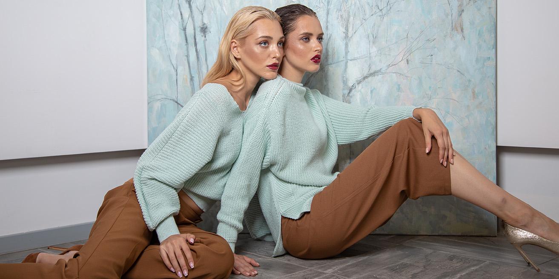 вязаные свитеры
